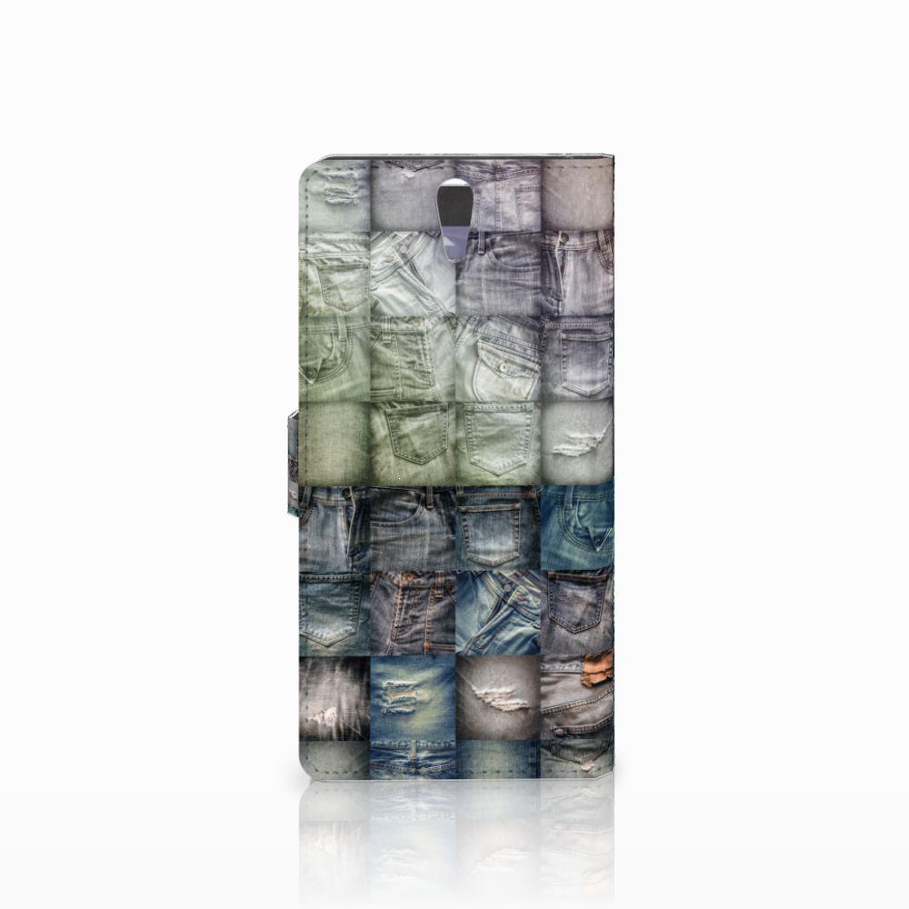 Wallet Case met Pasjes Sony Xperia C5 Ultra Spijkerbroeken