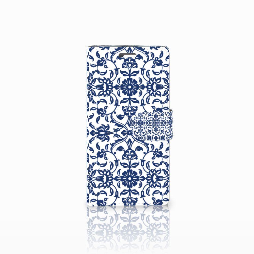 LG K10 2015 Uniek Boekhoesje Flower Blue