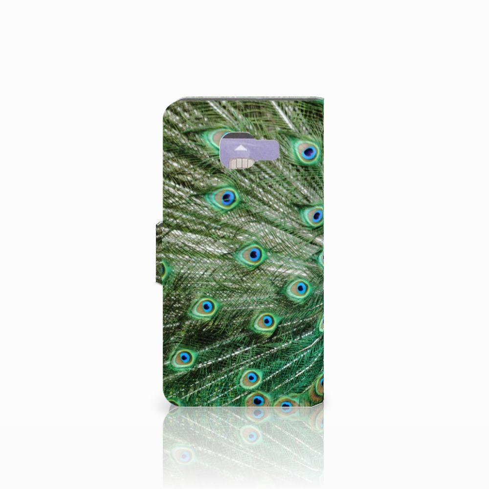 Samsung Galaxy A3 2016 Telefoonhoesje met Pasjes Pauw