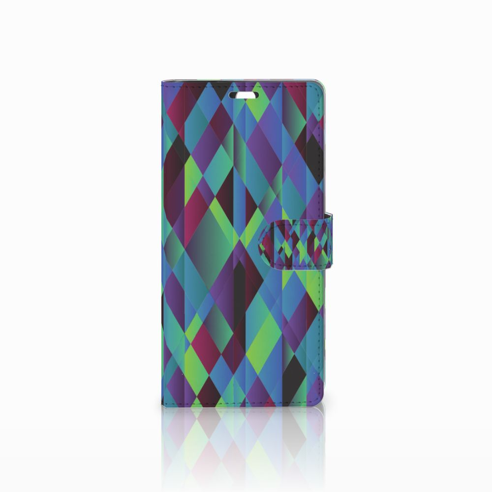 Sony Xperia C5 Ultra Bookcase Abstract Green Blue