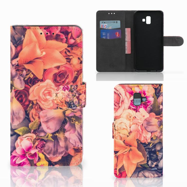 Samsung Galaxy J6 Plus (2018) Hoesje Bosje Bloemen