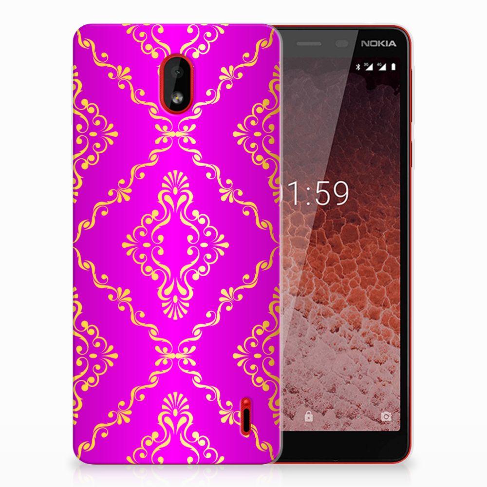 Siliconen Hoesje Nokia 1 Plus Barok Roze