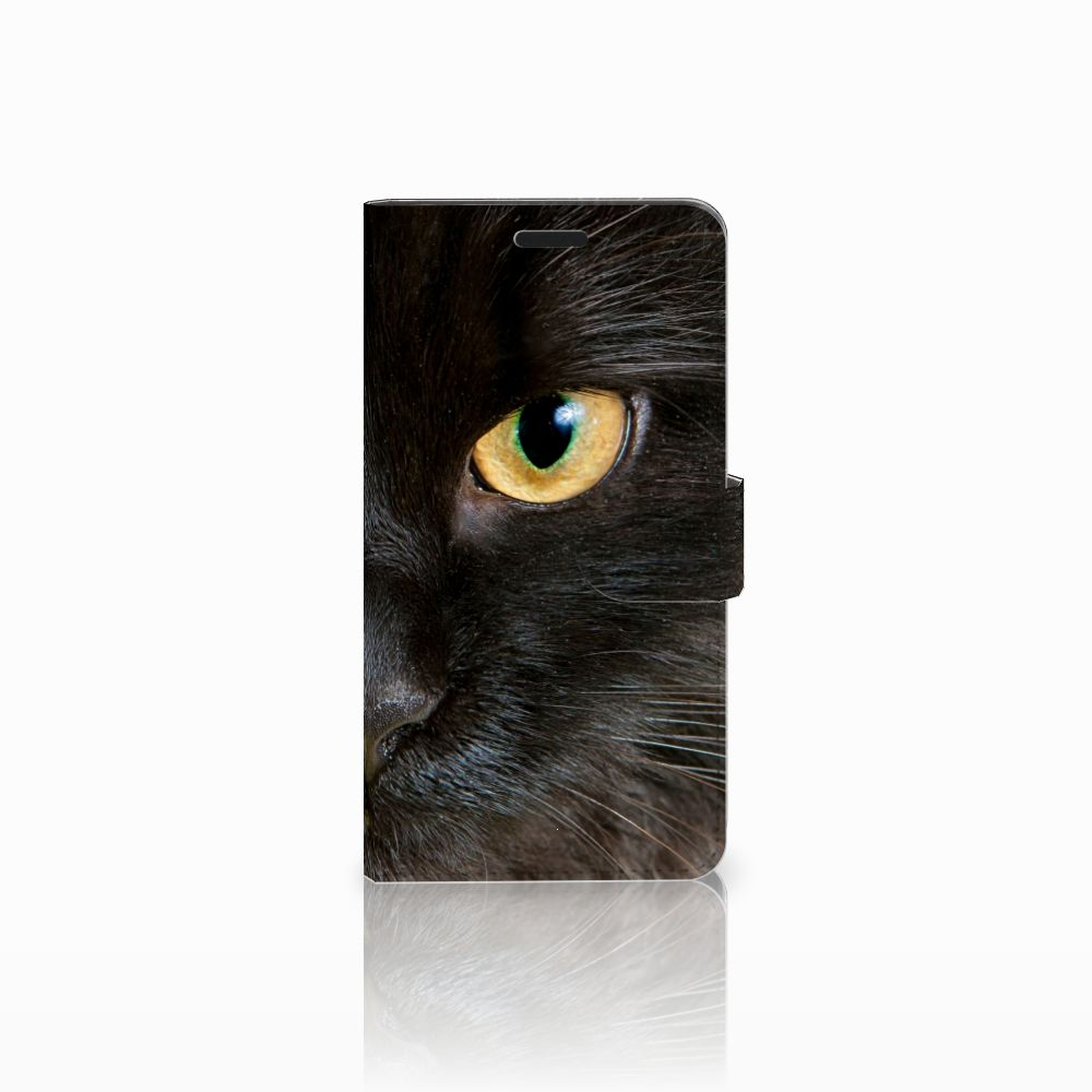 Sony Xperia T3 Uniek Boekhoesje Zwarte Kat