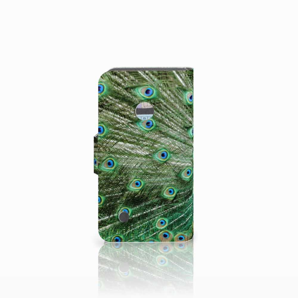 Nokia Lumia 530 Telefoonhoesje met Pasjes Pauw