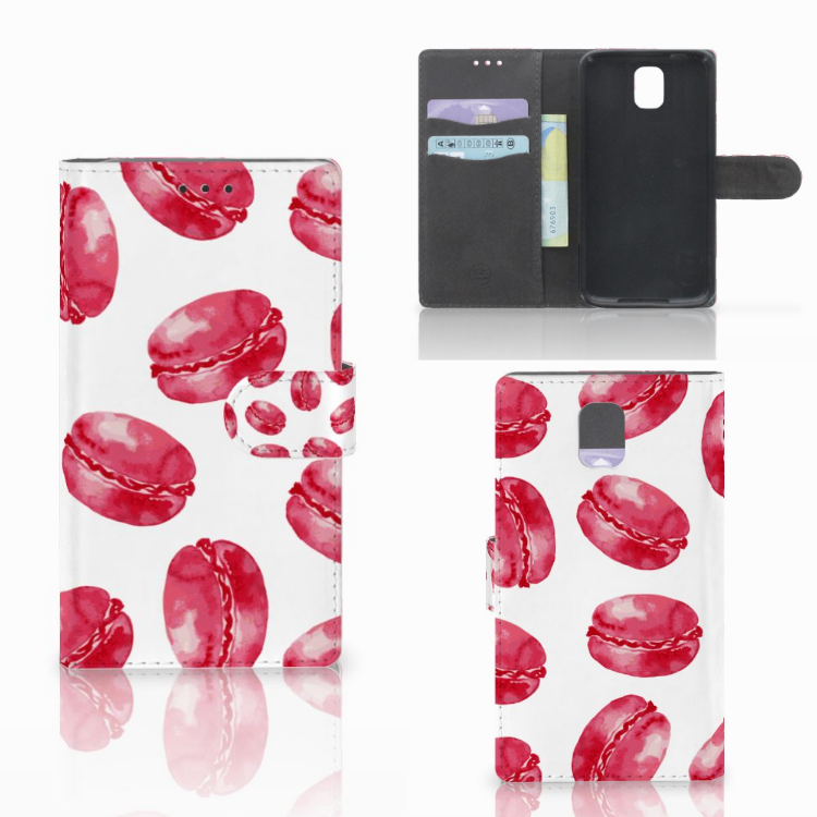 Samsung Galaxy Note 3 Book Cover Pink Macarons