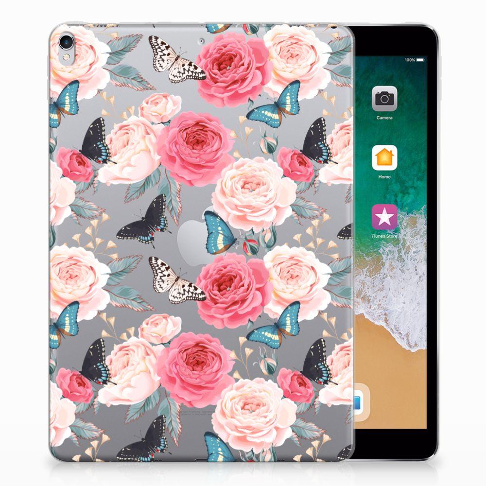 Apple iPad Pro 10.5 Uniek Tablethoesje Butterfly Roses