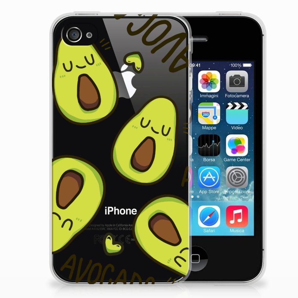 Apple iPhone 4   4s Telefoonhoesje met Naam Avocado Singing