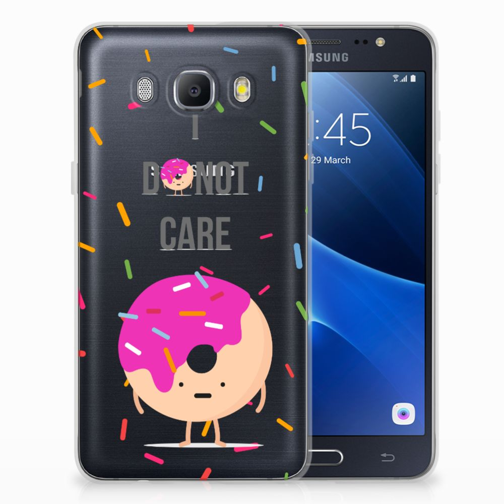 Samsung Galaxy J5 2016 Siliconen Case Donut Roze