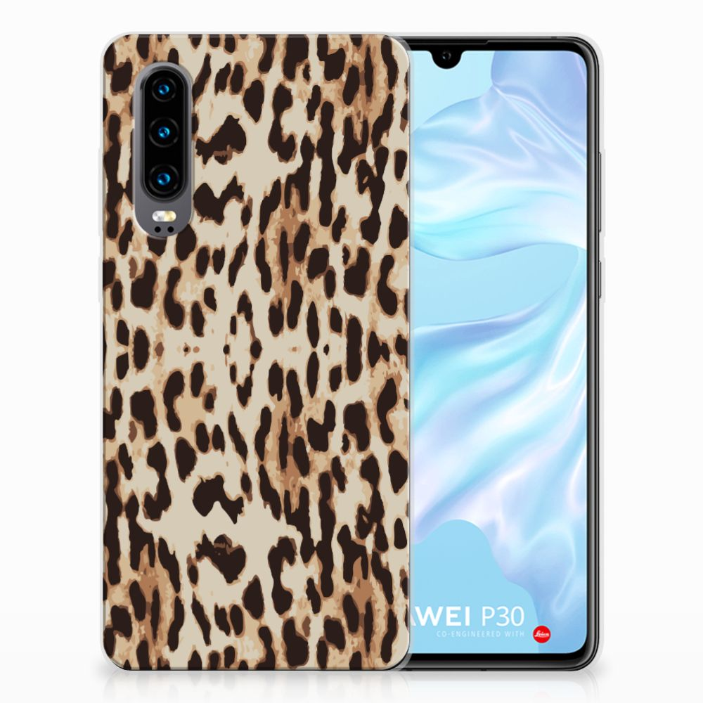 Huawei P30 Uniek TPU Hoesje Leopard