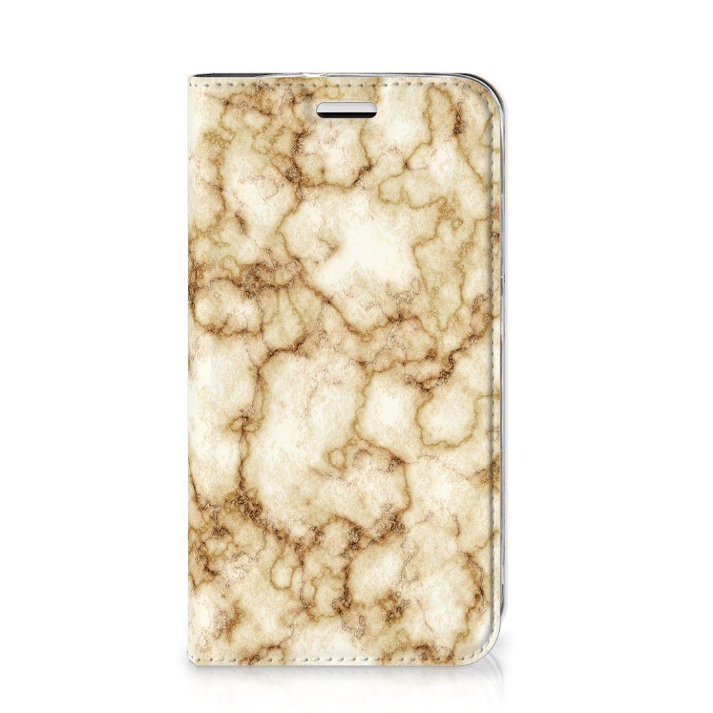 Huawei Y3 2017 Standcase Marmer Goud