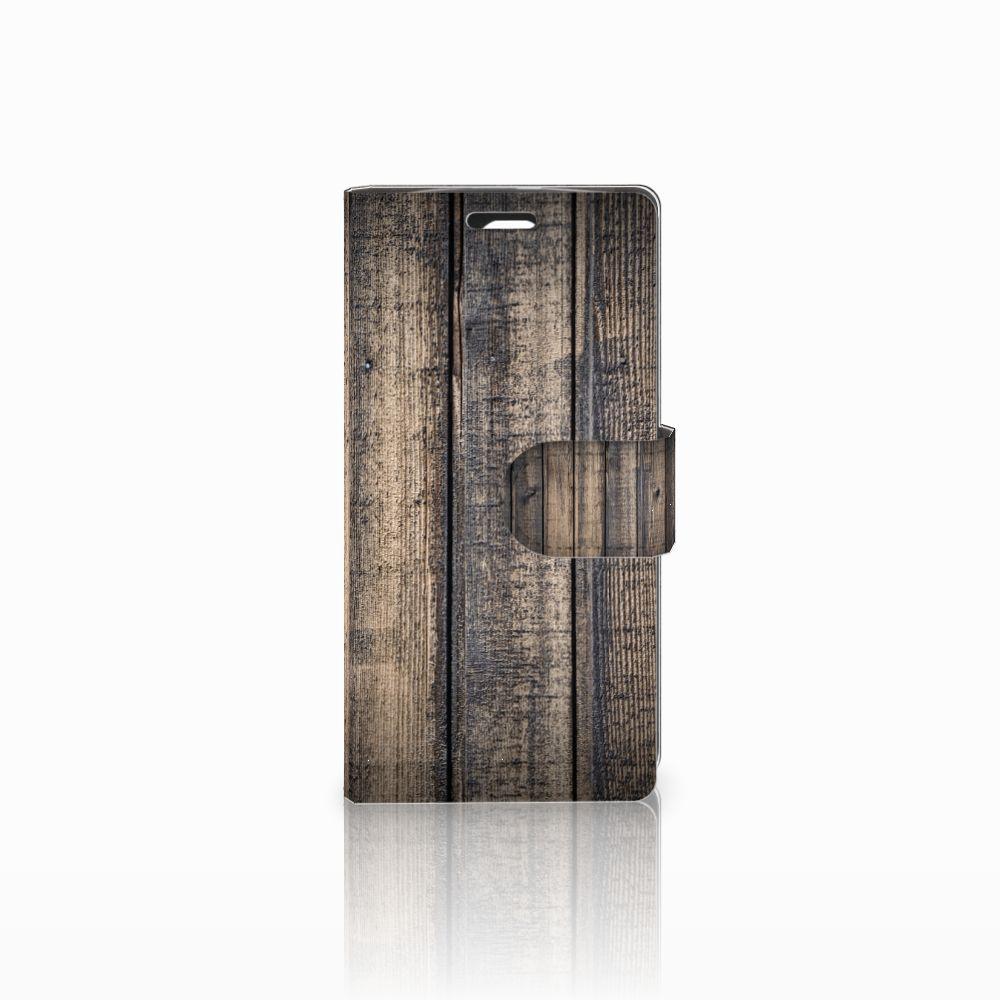 LG Spirit Boekhoesje Design Steigerhout