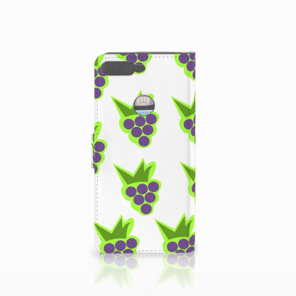 Huawei Y7 2018 Book Cover Druiven