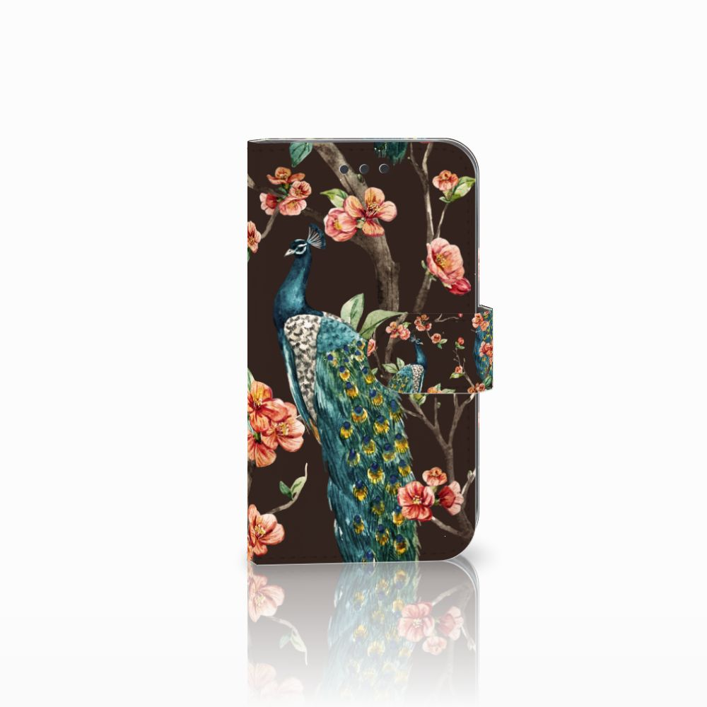 Samsung Galaxy S3 i9300 Boekhoesje Design Pauw met Bloemen