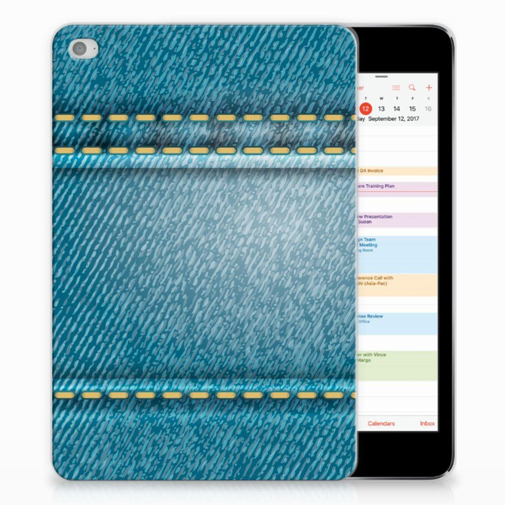 Apple iPad Mini 4 | Mini 5 (2019) Leuke Siliconen Hoes Jeans