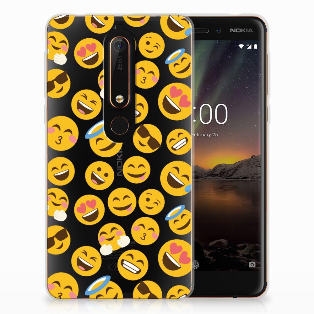 Nokia 6 (2018) TPU Hoesje Design Emoji