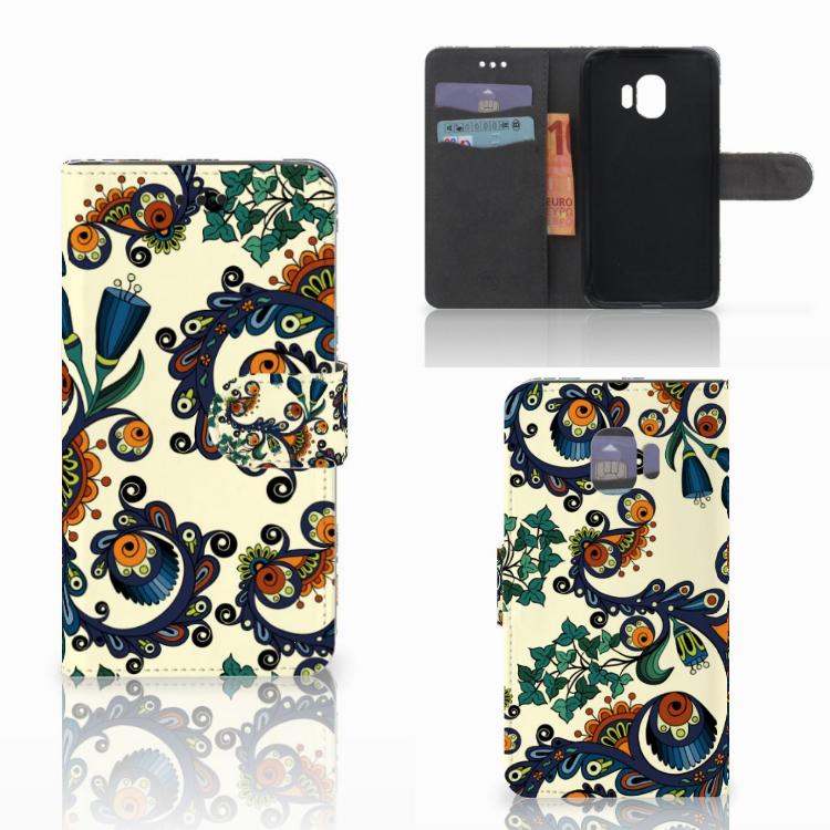 Wallet Case Samsung Galaxy J2 Pro 2018 Barok Flower