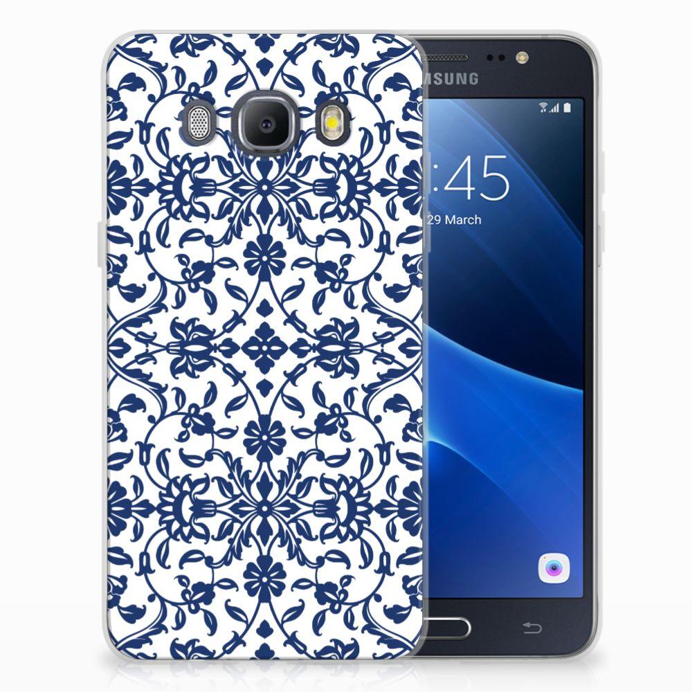 Samsung Galaxy J5 2016 TPU Hoesje Flower Blue