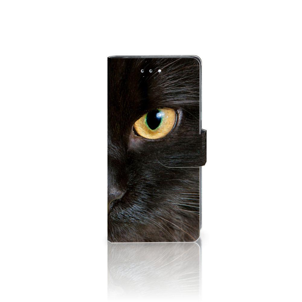 Huawei P9 Uniek Boekhoesje Zwarte Kat