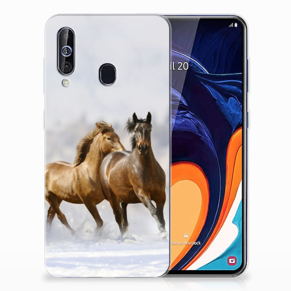 Samsung Galaxy A60 TPU Hoesje Paarden