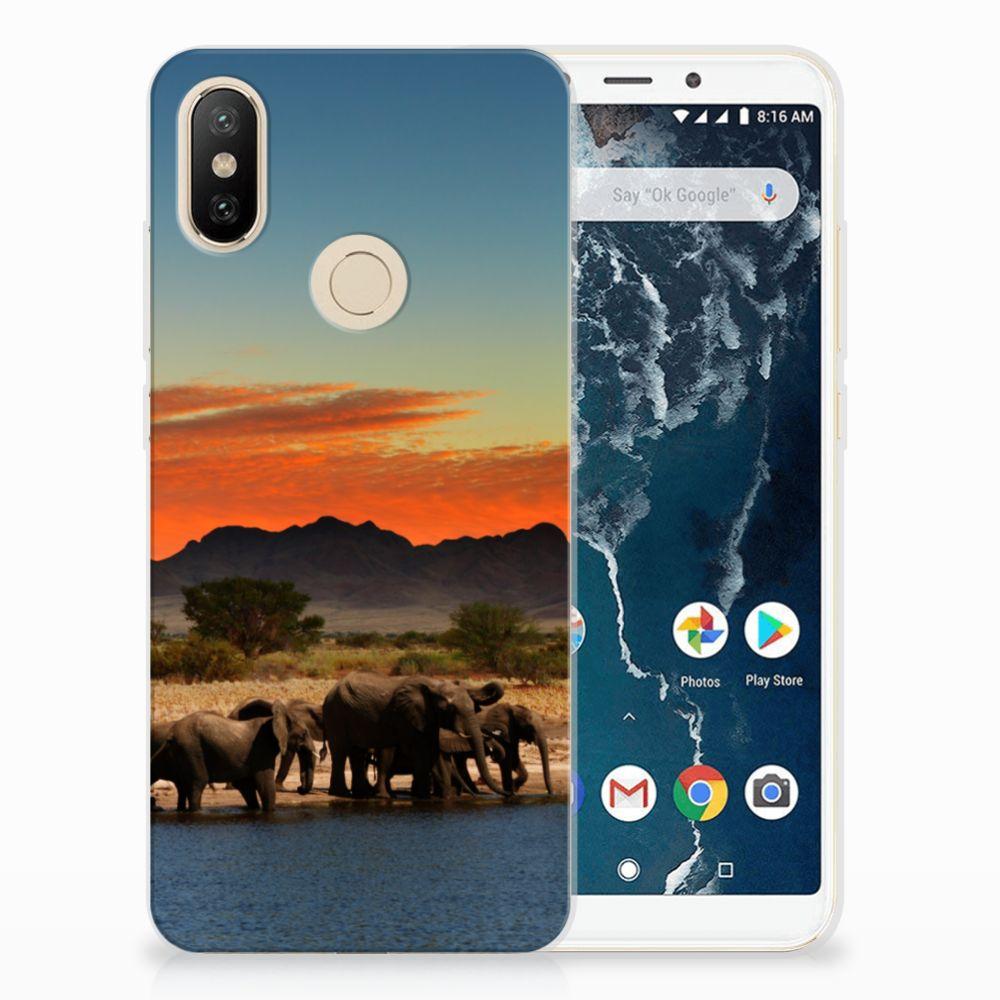 Xiaomi Mi A2 TPU Hoesje Olifanten