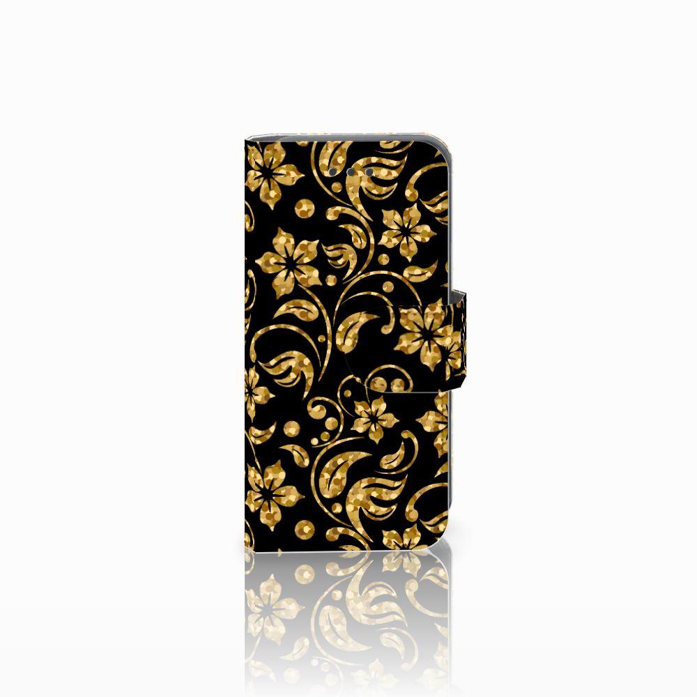 Apple iPod Touch 5 | 6 Boekhoesje Design Gouden Bloemen