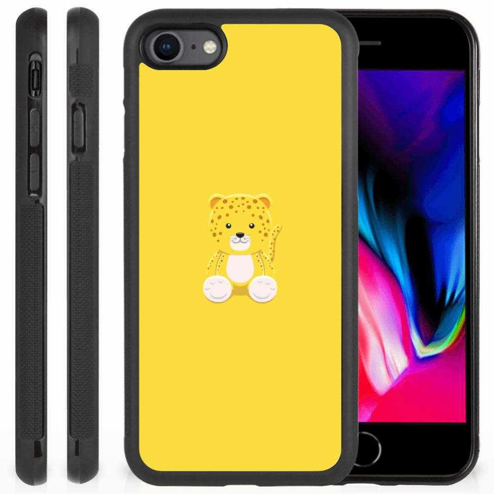 Apple iPhone 7 | 8 Bumper Hoesje Baby Leopard