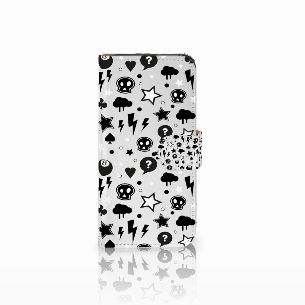 HTC One Mini 2 Uniek Boekhoesje Silver Punk