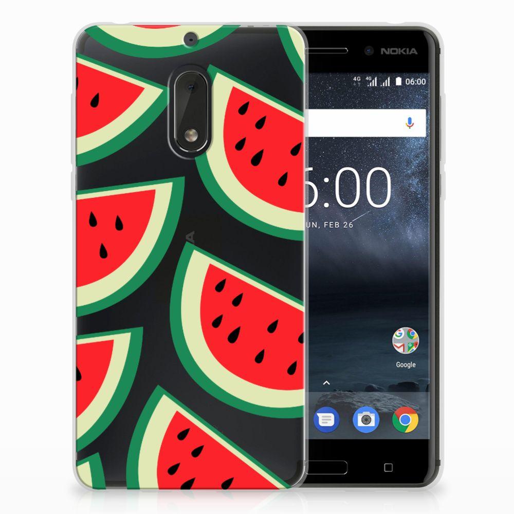 Nokia 6 Siliconen Case Watermelons