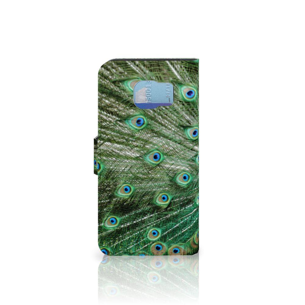 Samsung Galaxy S6 | S6 Duos Telefoonhoesje met Pasjes Pauw
