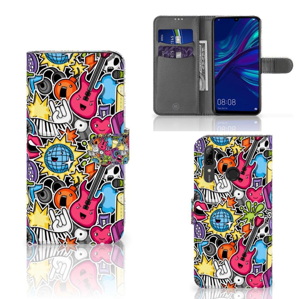 Huawei P Smart Plus (2019) Wallet Case met Pasjes Punk Rock