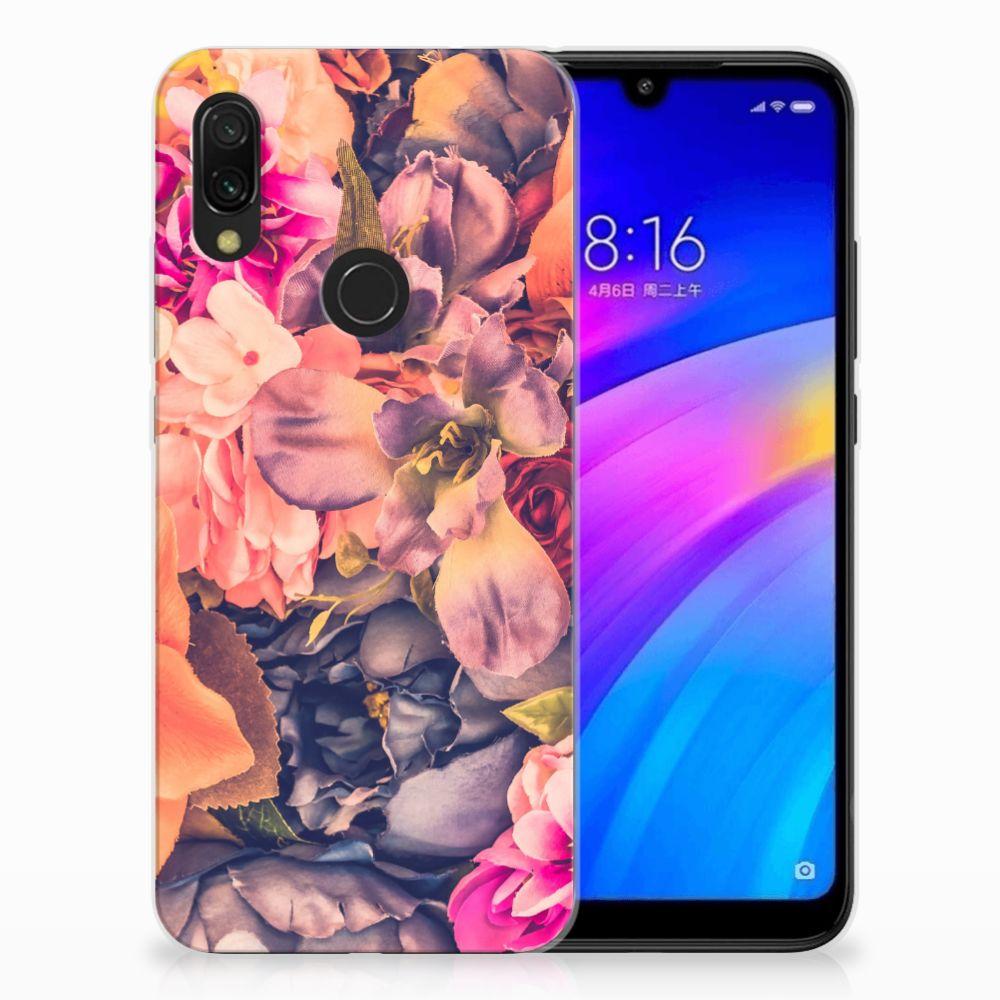 Xiaomi Redmi 7 TPU Hoesje Design Bosje Bloemen