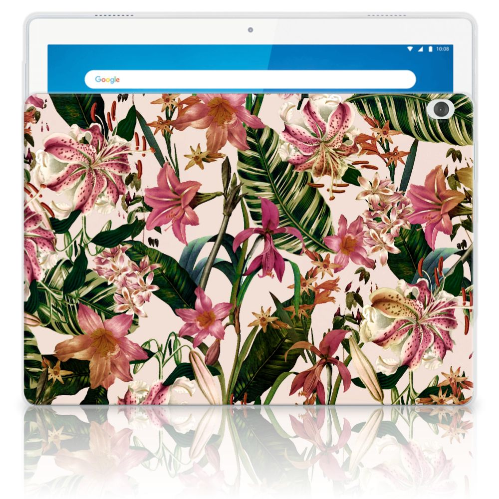 Lenovo Tab M10 Siliconen Hoesje Flowers
