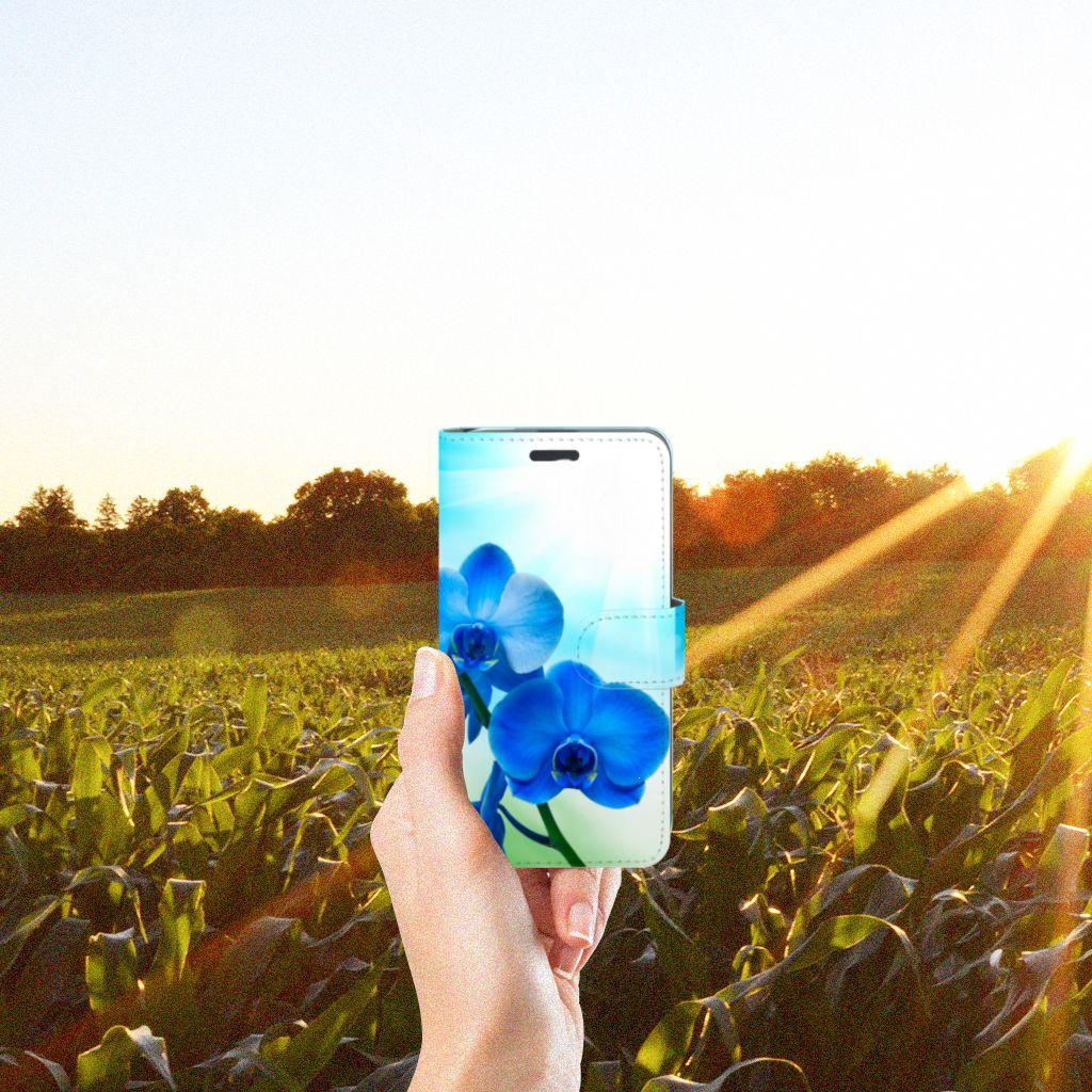 Acer Liquid Z520 Boekhoesje Design Orchidee Blauw