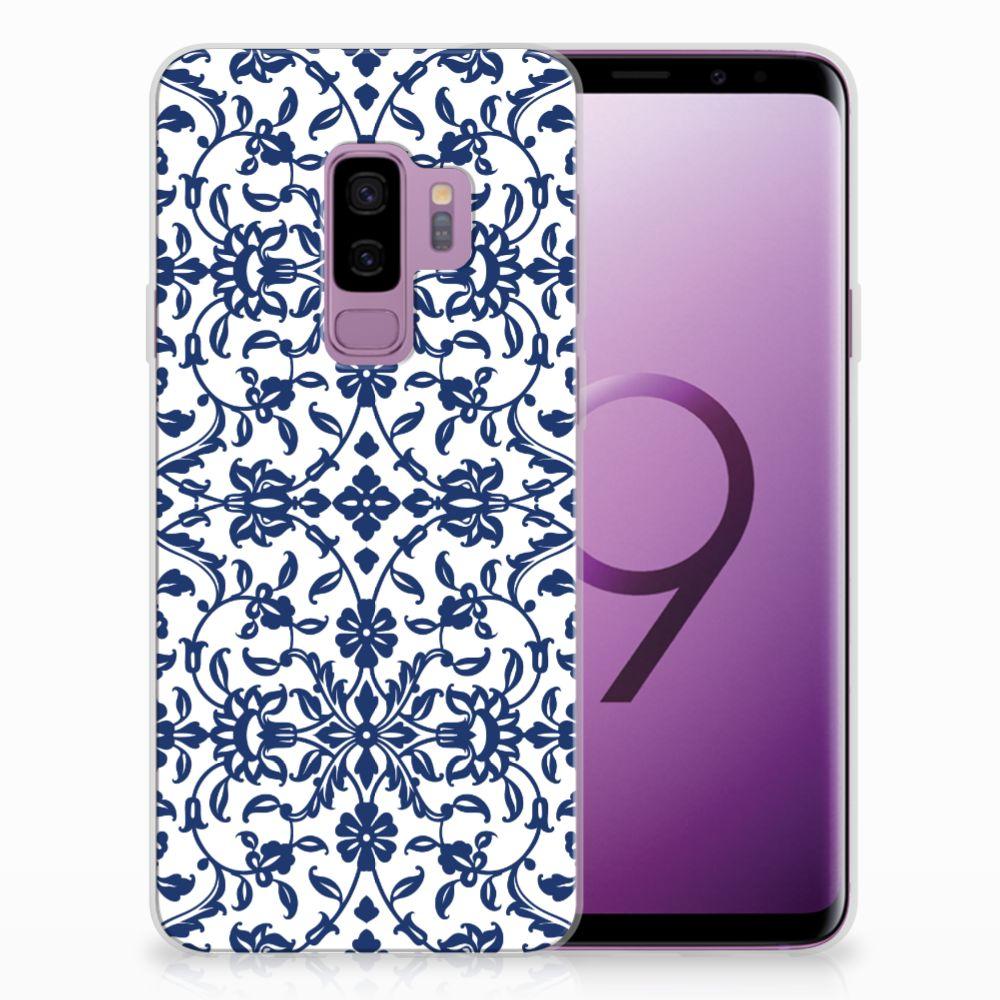 Samsung Galaxy S9 Plus Uniek TPU Hoesje Flower Blue