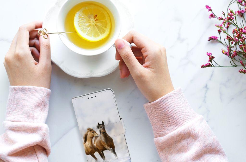 Huawei Y5 2 | Y6 II Compact Uniek Boekhoesje Paarden
