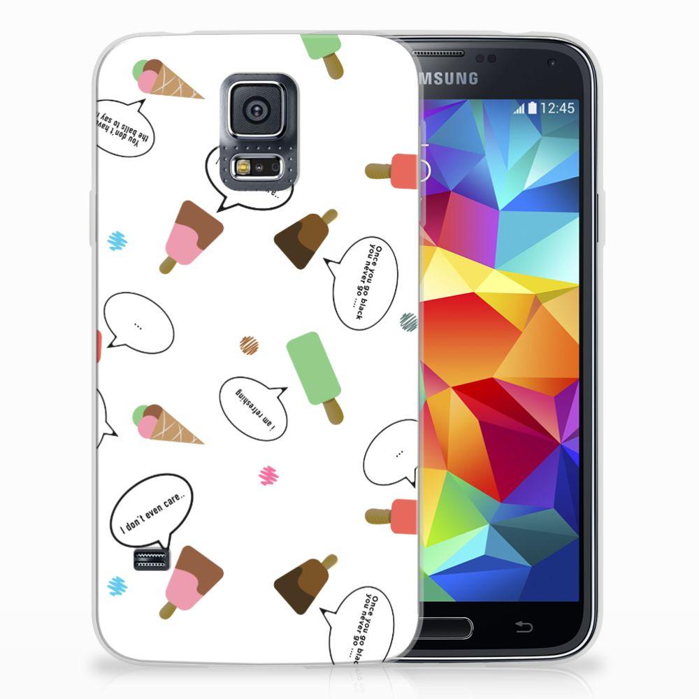 Samsung Galaxy S5 TPU Hoesje Design IJsjes