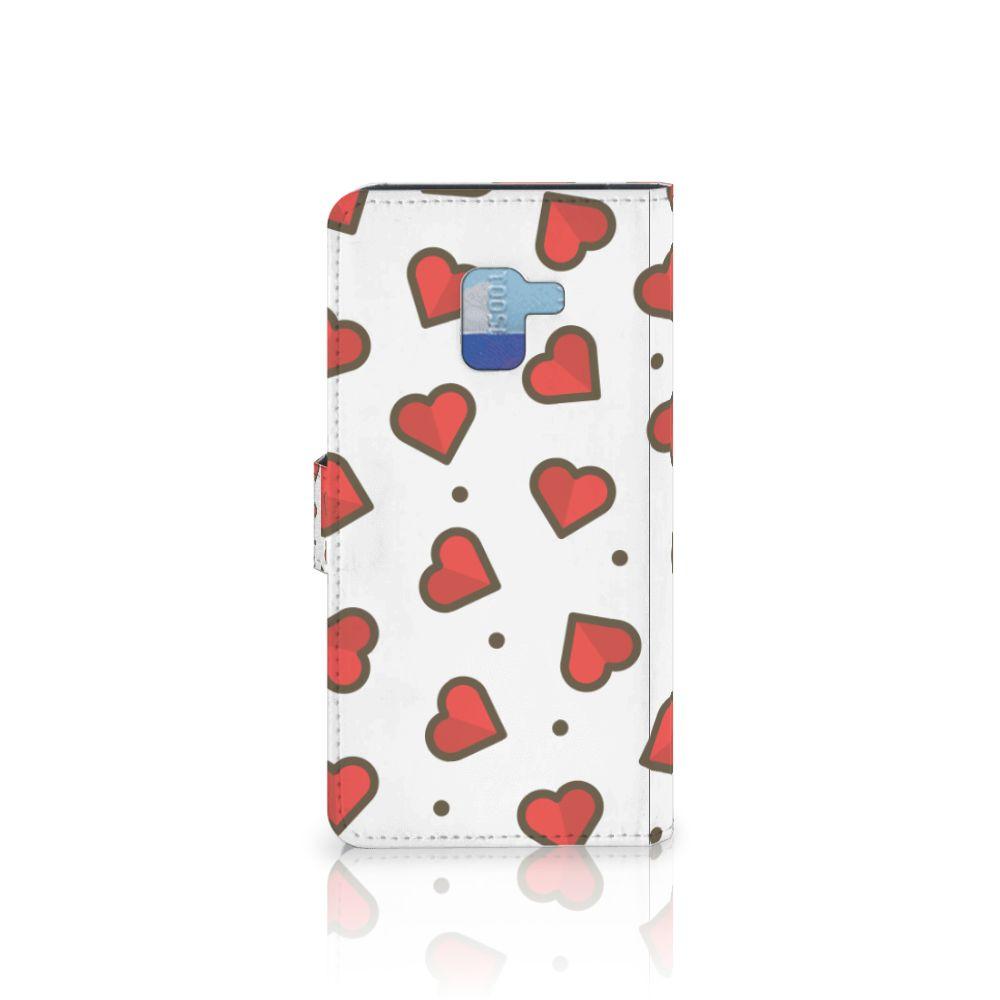Samsung Galaxy A8 Plus (2018) Telefoon Hoesje Hearts