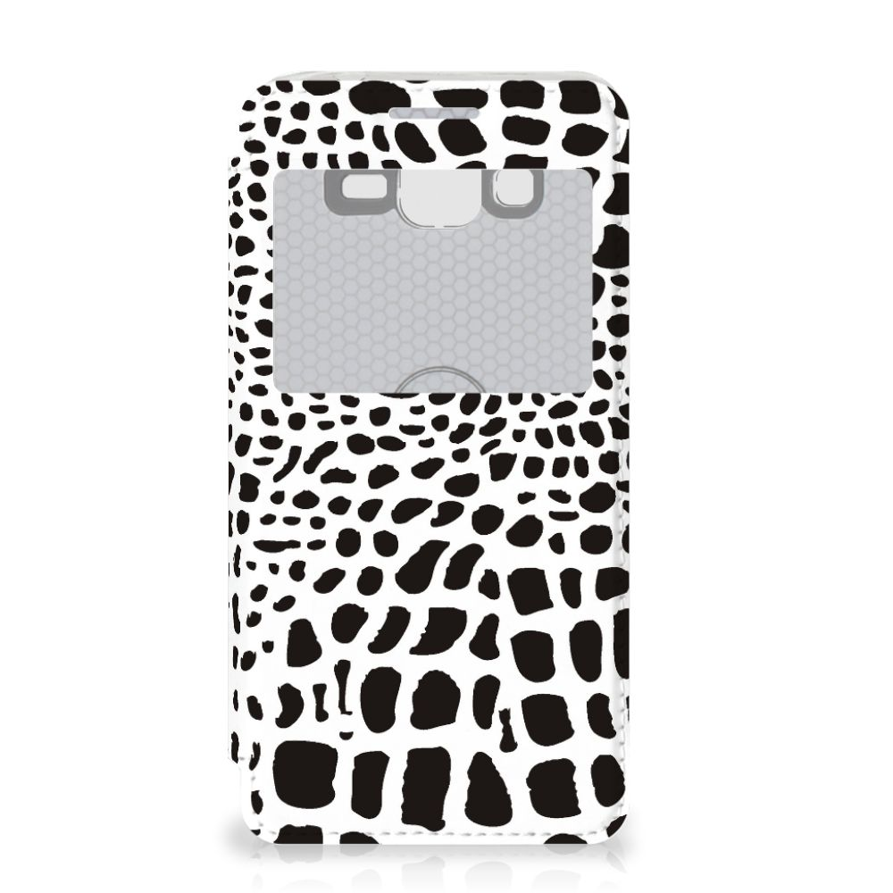 Samsung Galaxy Grand Prime Telefoonhoesje met Pasjes Slangenprint