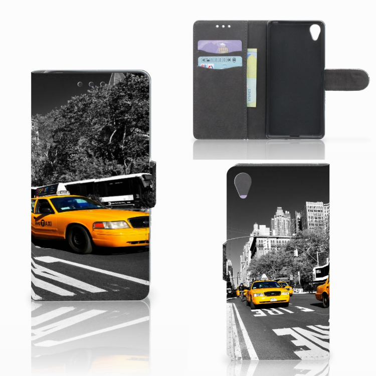 Sony Xperia X Flip Cover New York Taxi