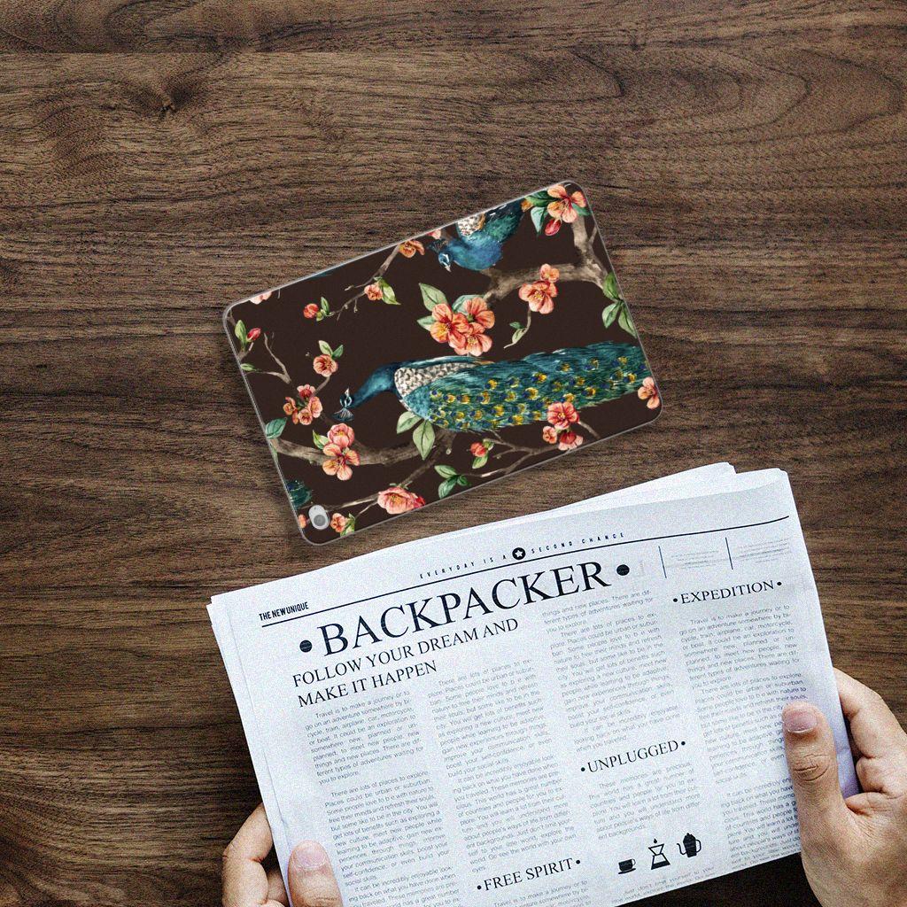 Apple iPad Mini 4 Tablethoesje Design Pauw met Bloemen