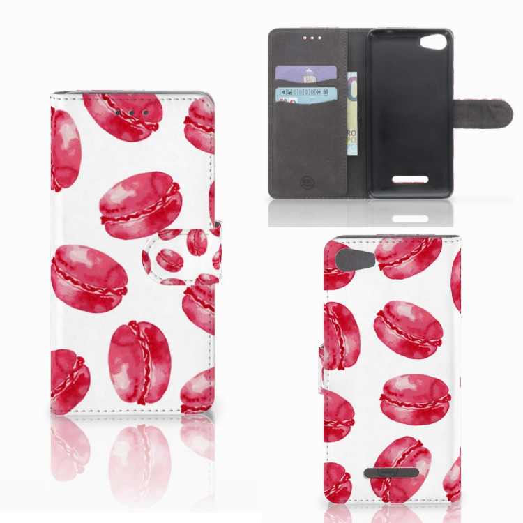 Wiko Lenny 2 Book Cover Pink Macarons