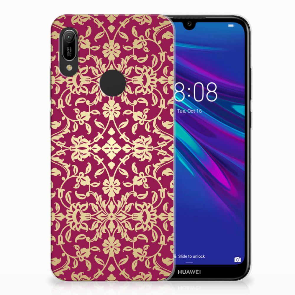 Huawei Y6 2019 | Y6 Pro 2019 TPU Hoesje Design Barok Pink