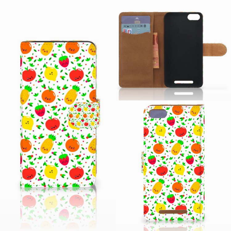 Wiko Lenny 3 Book Cover Fruits