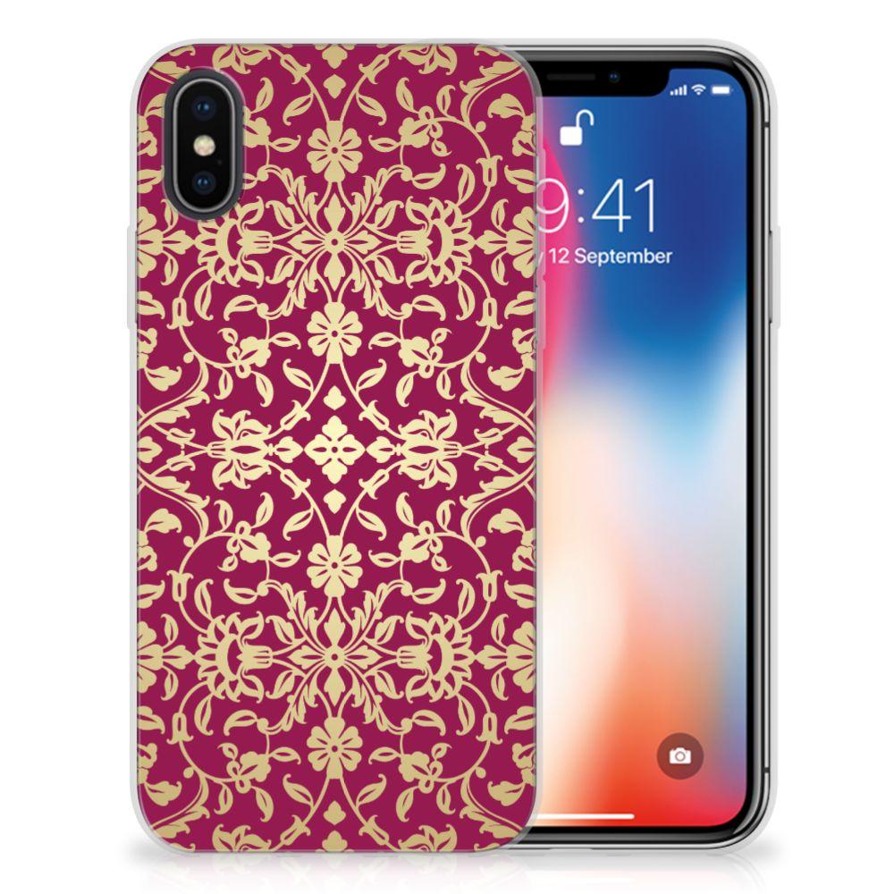 Siliconen Hoesje Apple iPhone X   Xs Barok Pink