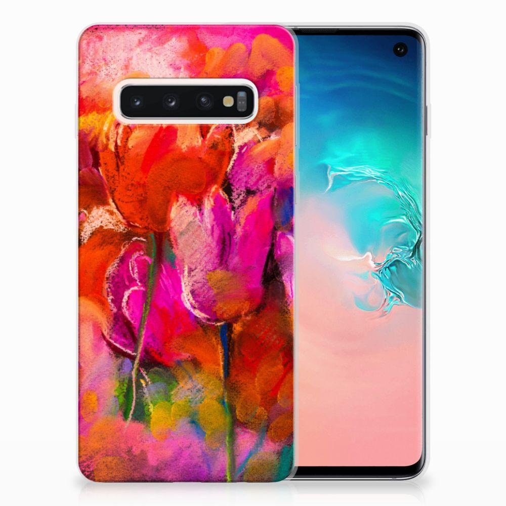 Samsung Galaxy S10 TPU Hoesje Design Tulips