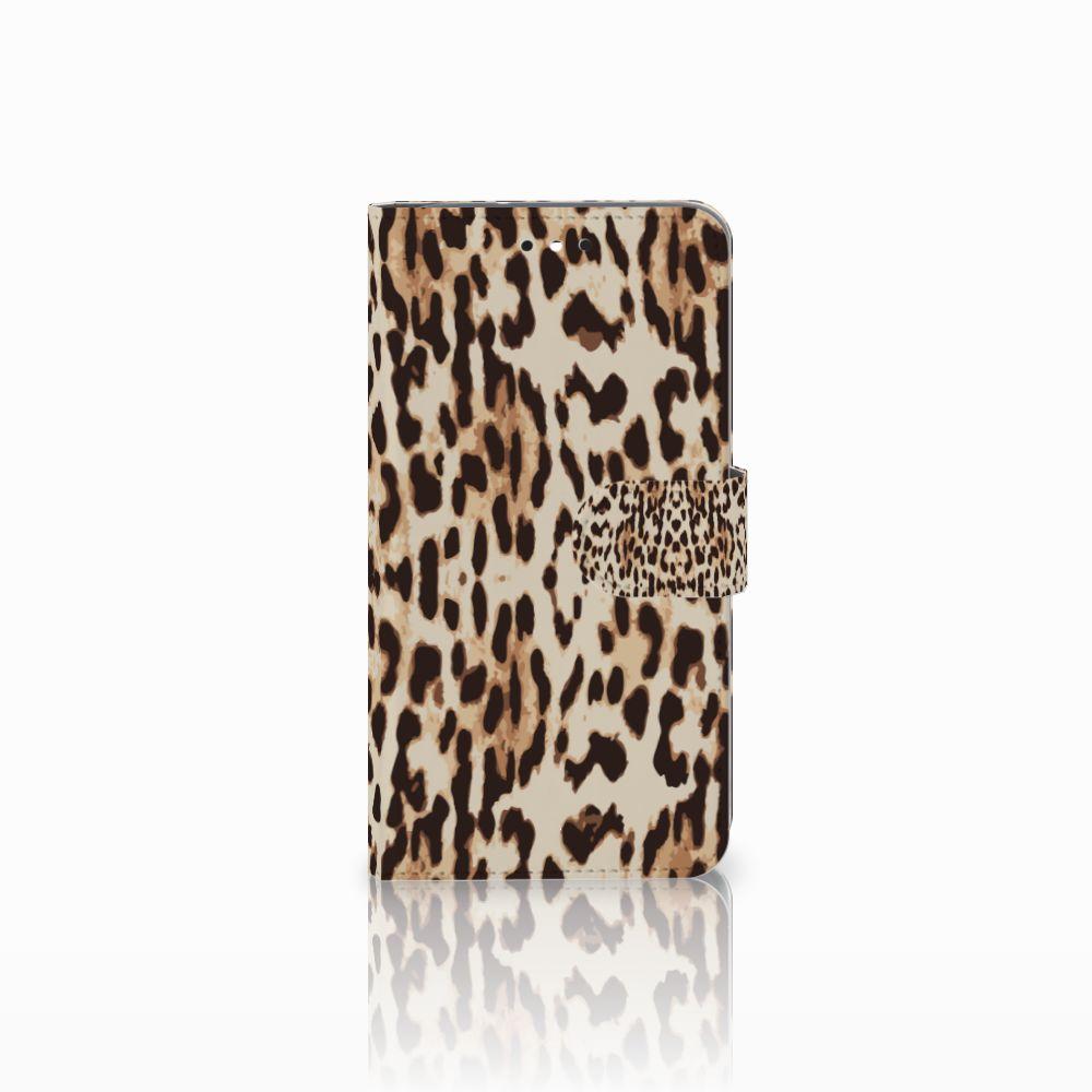 Motorola Moto G4 | G4 Plus Telefoonhoesje met Pasjes Leopard