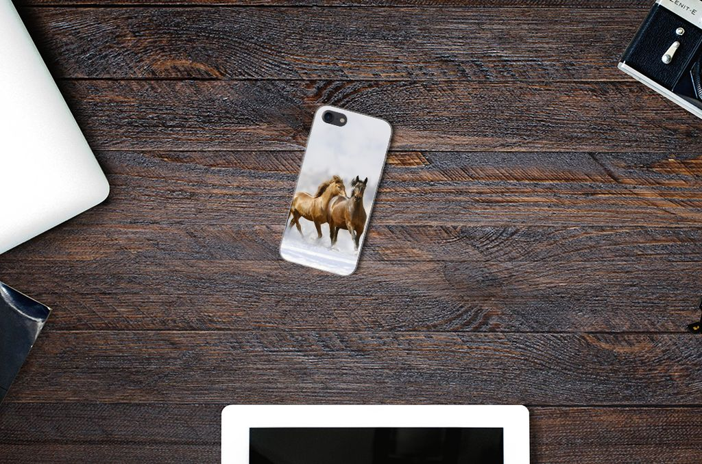Apple iPhone 7 | 8 TPU Hoesje Paarden
