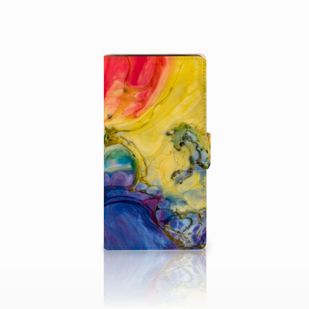 Hoesje Sony Xperia C4 Watercolor Dark