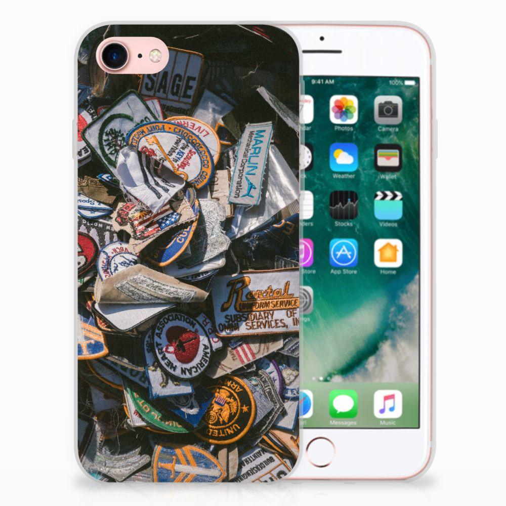 Apple iPhone 7 | 8 Uniek TPU Hoesje Badges