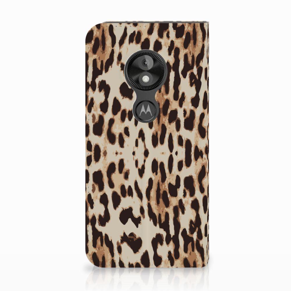 Motorola Moto E5 Play Uniek Standcase Hoesje Leopard